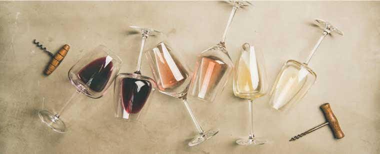 vin rouge vin rosé vin blanc